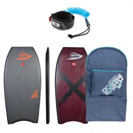 Bodyboard Manta Drive Pe 2020 + Leash Biceps + Housse Ocean & Earth