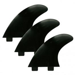 Ailerons Surf Compatibles Fcs1 Set De 3 Black