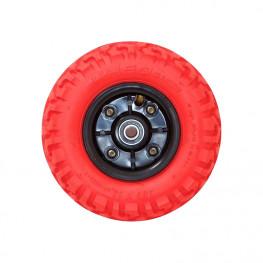Roue Complète 8 Pouces - 12mm Pneu Rouge Kheo (a L'unité)